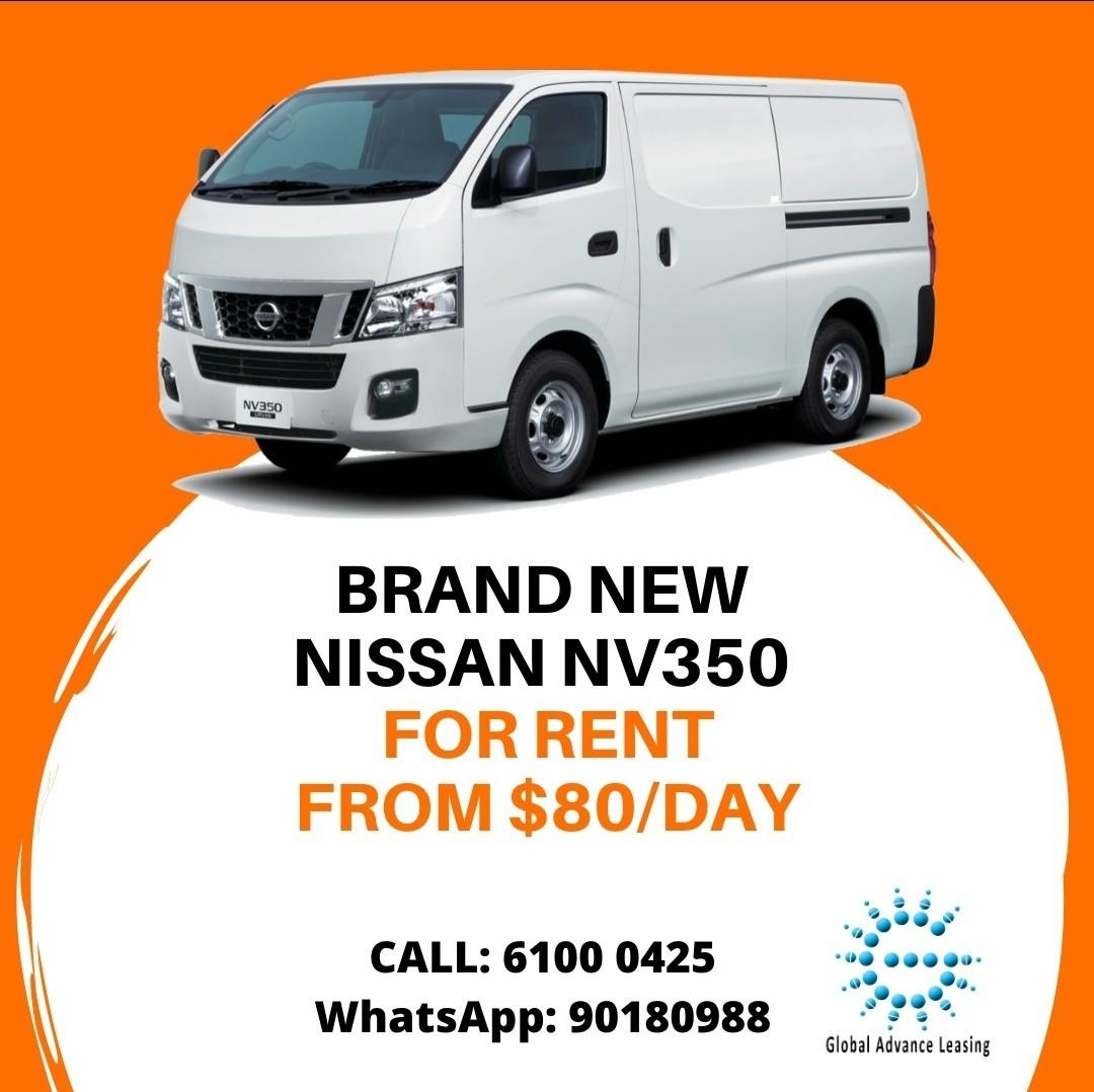 Commercial Van NV350 for rent