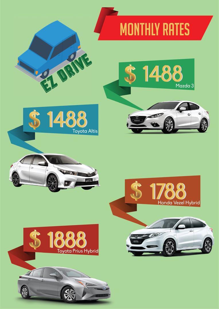 EZ DRIVE Car Rental. Cheap/ PHV Ready