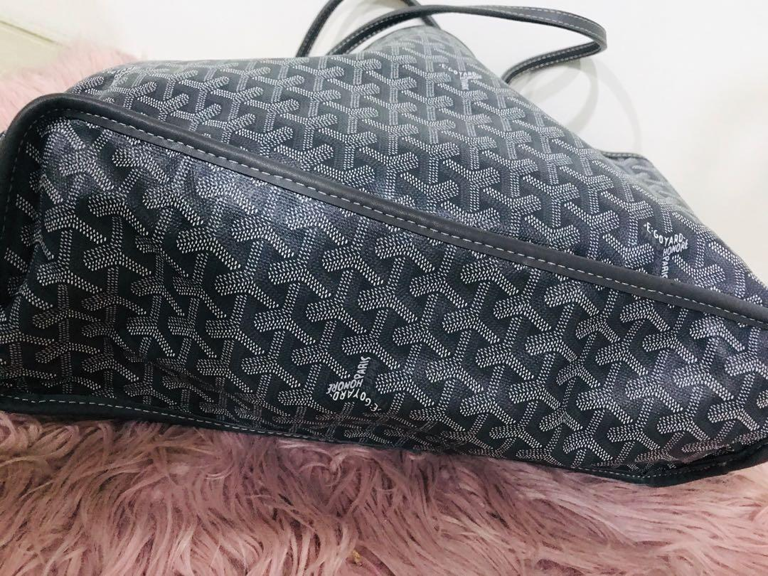 (LAST PRICE) Goyard bag saint Louis Pm Ladies Men's with Pouch Gray PVC Tote
