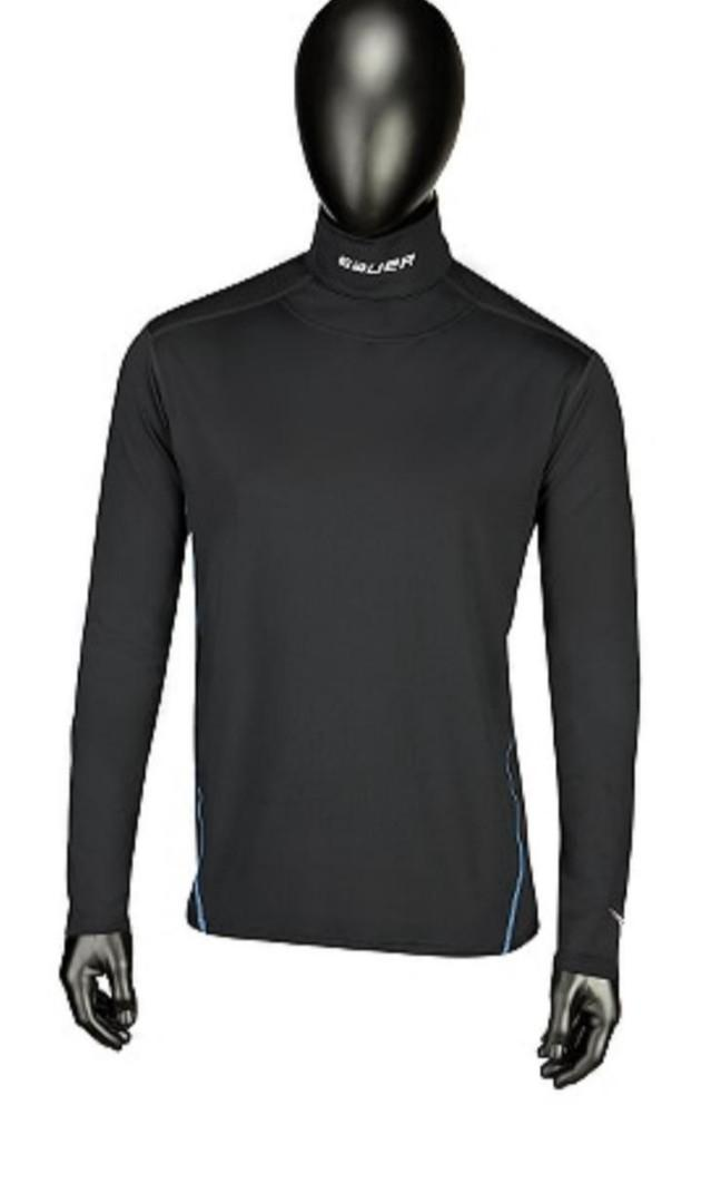 Men's BAUER Core Neckprotect Senior Long Sleeve Top- Size L -Like New