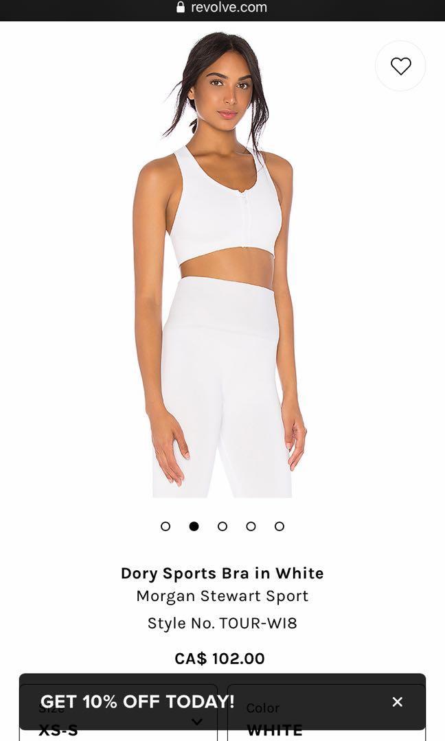 Morgan Stewart sport dory sports bra white size xs/small