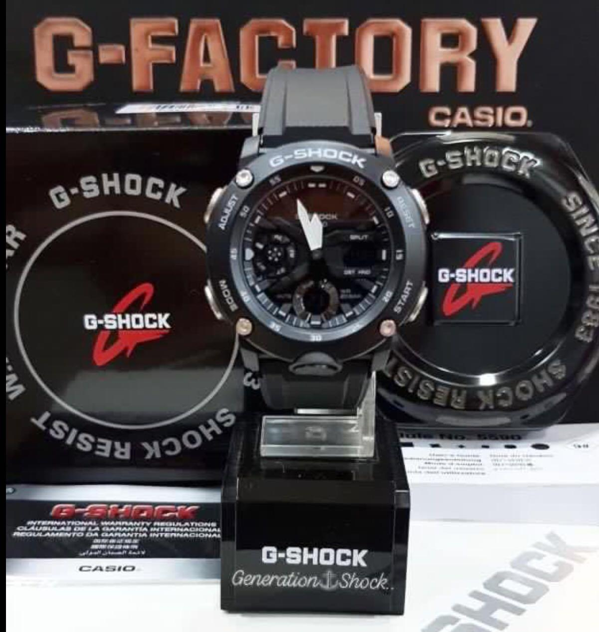 NEW🌟GSHOCK UNISEX DIVER SPORTS WATCH : 100% ORIGINAL AUTHENTIC CASIO G-SHOCK : GA-2000S-1A / GA-2000-1A (FULL STEALTH BLACK)