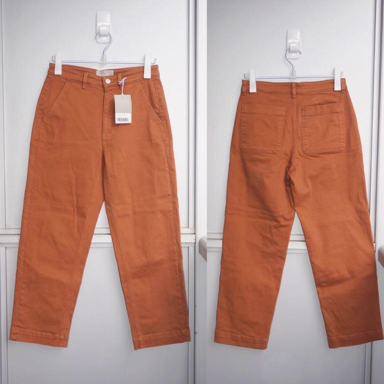 *NWT* Everlane The Straight Leg Crop Pants Size 6 Regular