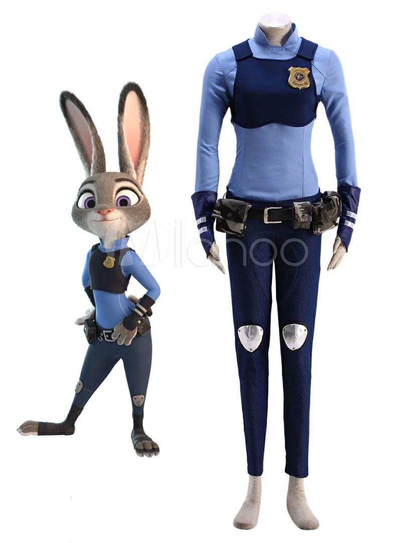 RENT/SALE Zootopia Judy Hoops Police Uniform Cosplay Costume