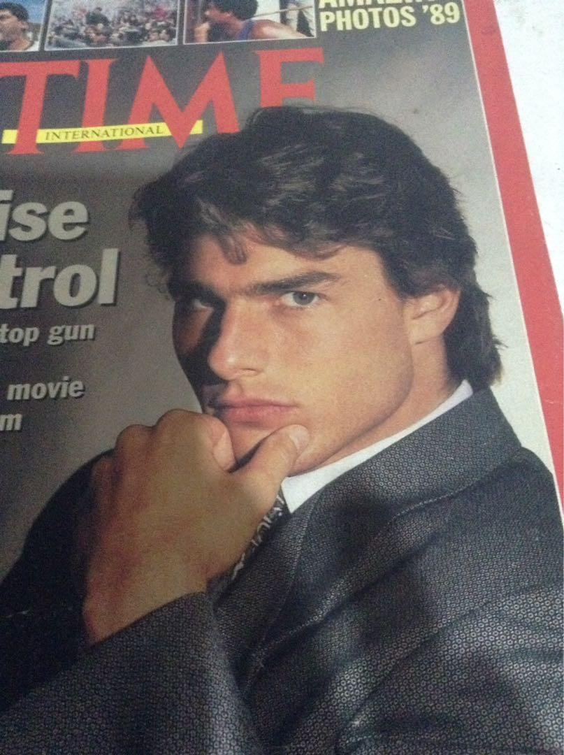 superstar TOM CRUISE in cover of TIME magazine/Dated Dec.1989/Original