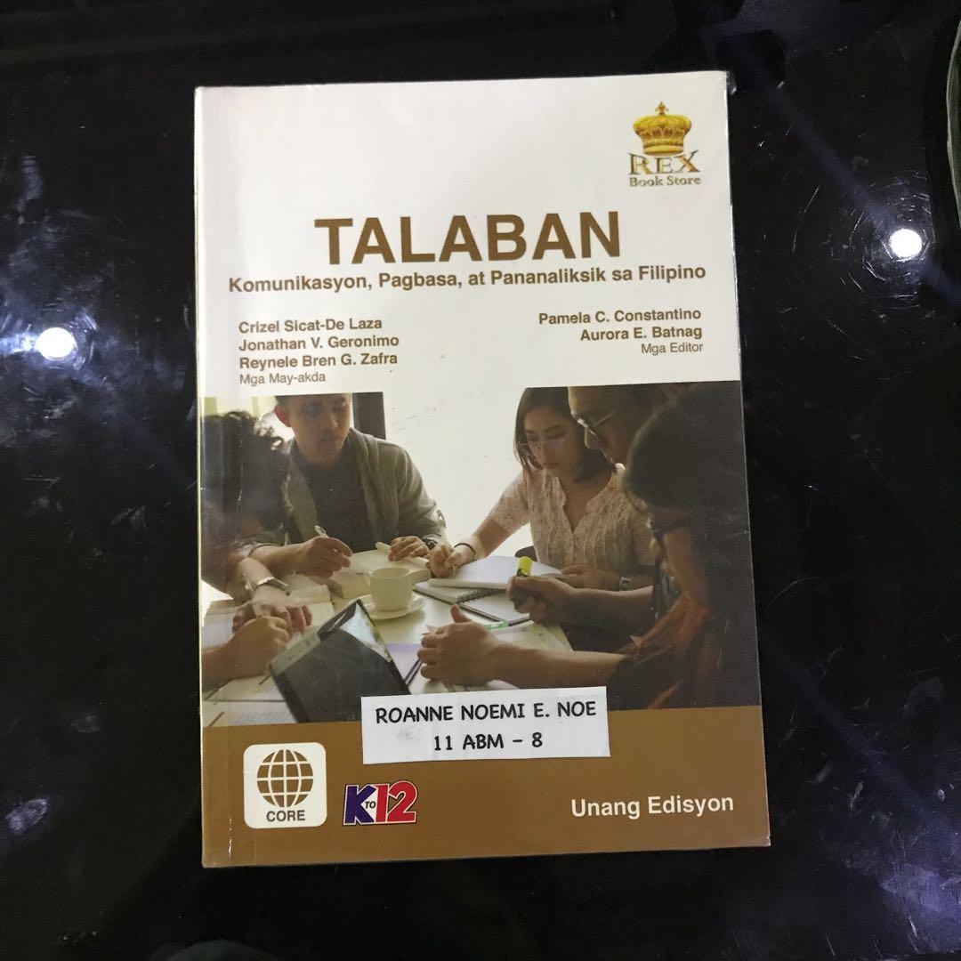 Talaban Filipino Book (Komunikasyon at Pananaliksik) UST SHS BOOK