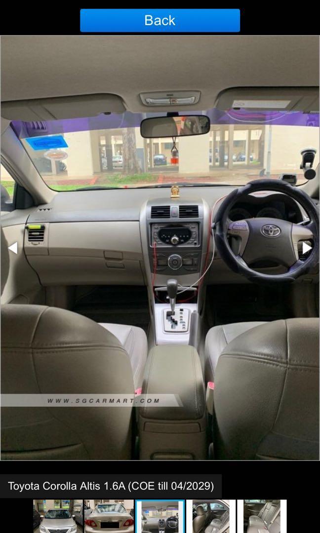 Toyota Altis for rental PHV