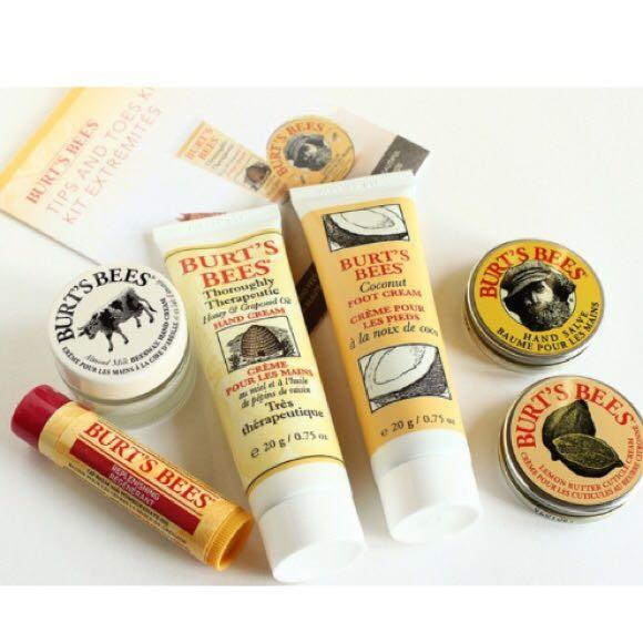 ❤️For Her🔥Brand New Burt's Bees Tips and Toes Kit Gift Set, 6 ...