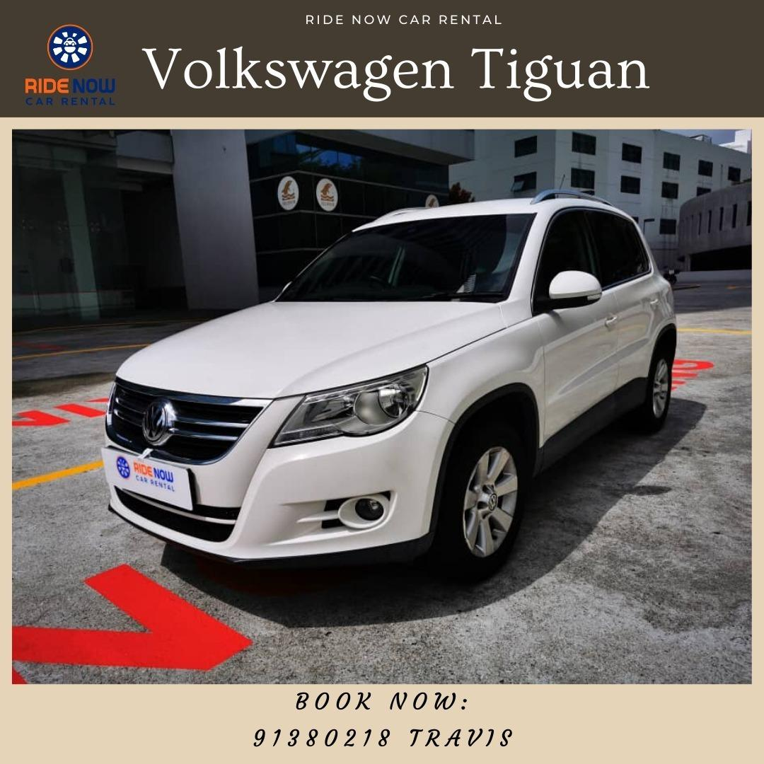 Volkswagen Tiguan 2.0A SUV Sleek Pearl White SUV perfect for Family Trips!