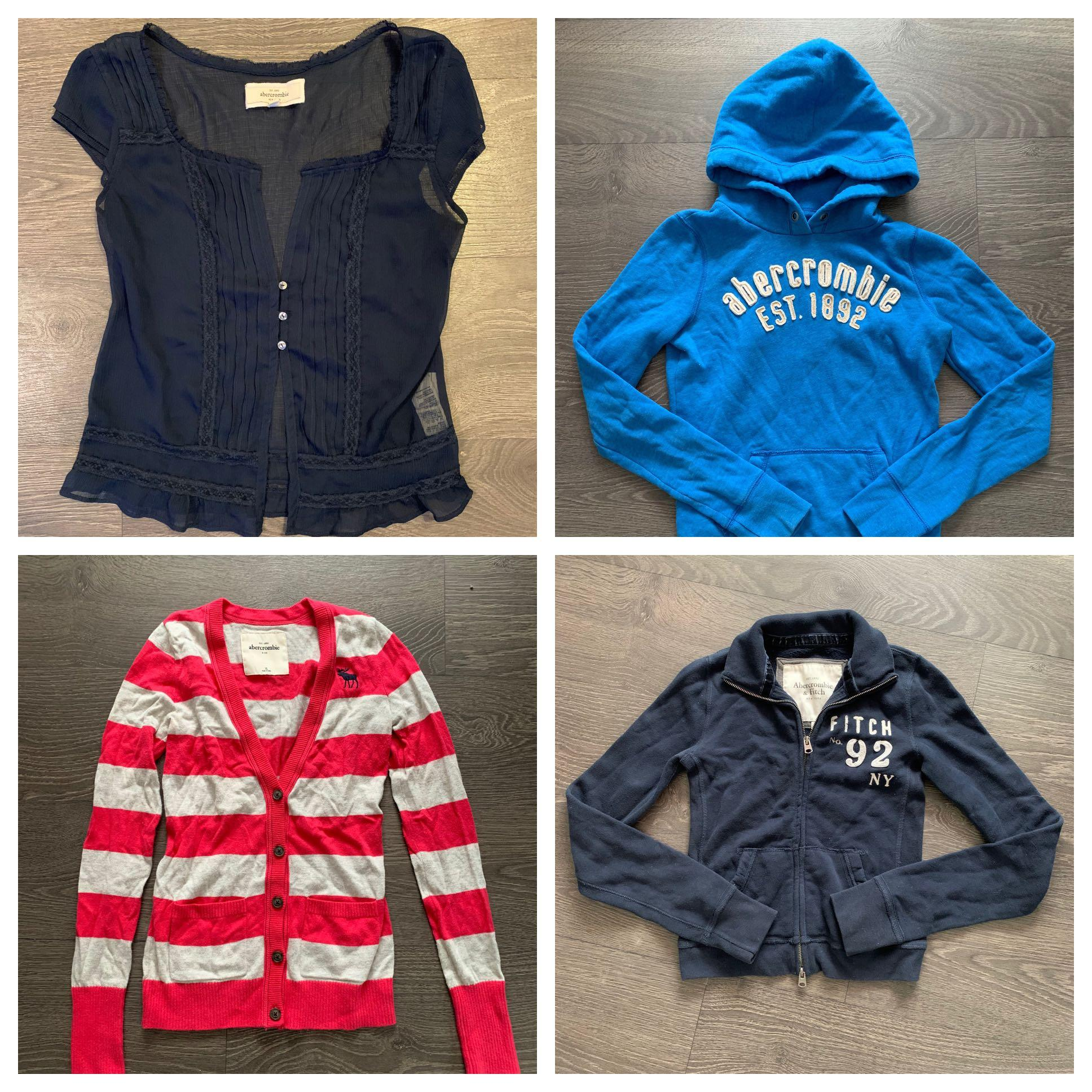 26 Piece Abercrombie A&F Hollister Lot Size XS and Small 0-2
