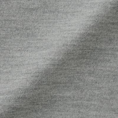 ㊣現貨快出㊣ MUJI無印良品 女不易刺癢羊毛天竺高領針織衫 (灰)