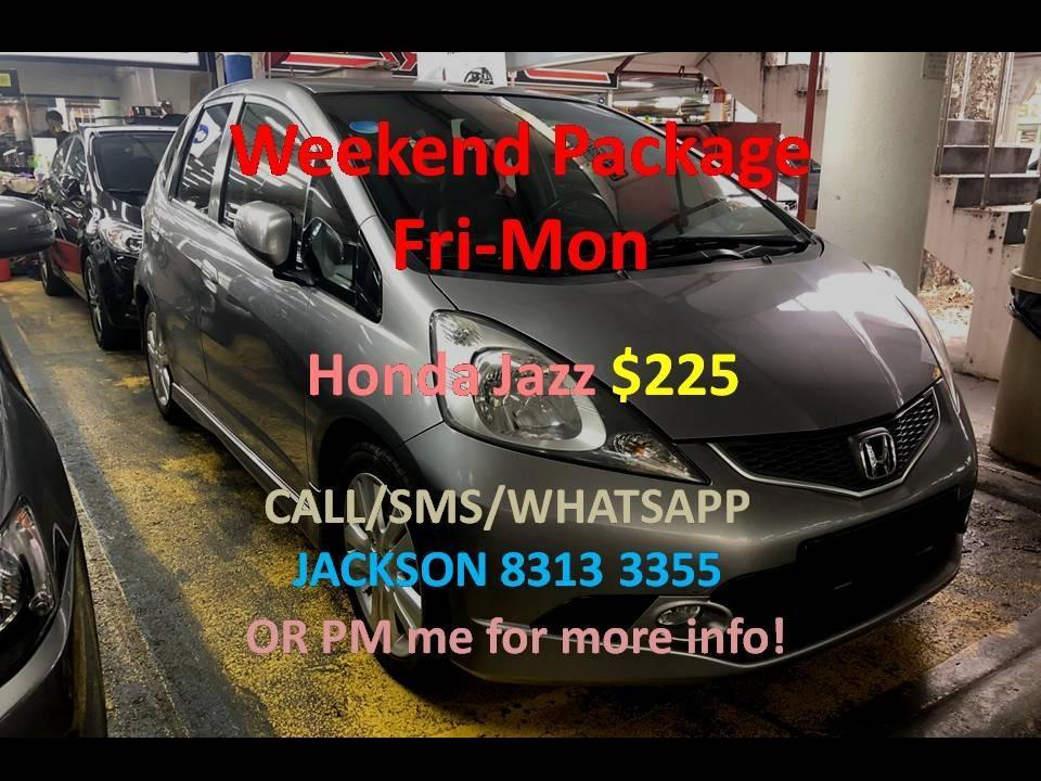 Car Rental Honda Jazz 3 - 6 April Fri-Mon Weekend Package P Plate Welcome ( Sembawang )