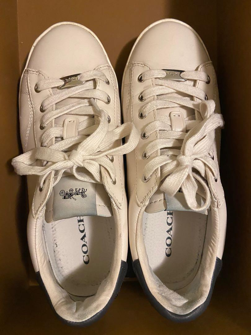 Coach C126 Low Top Sneaker White/Midnight Blue Size 7 US
