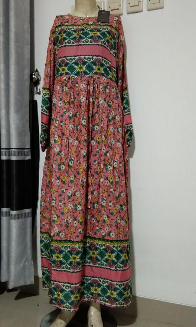 Gamis Extu Serut Fesyen Wanita Muslim Fashion Gaun On Carousell
