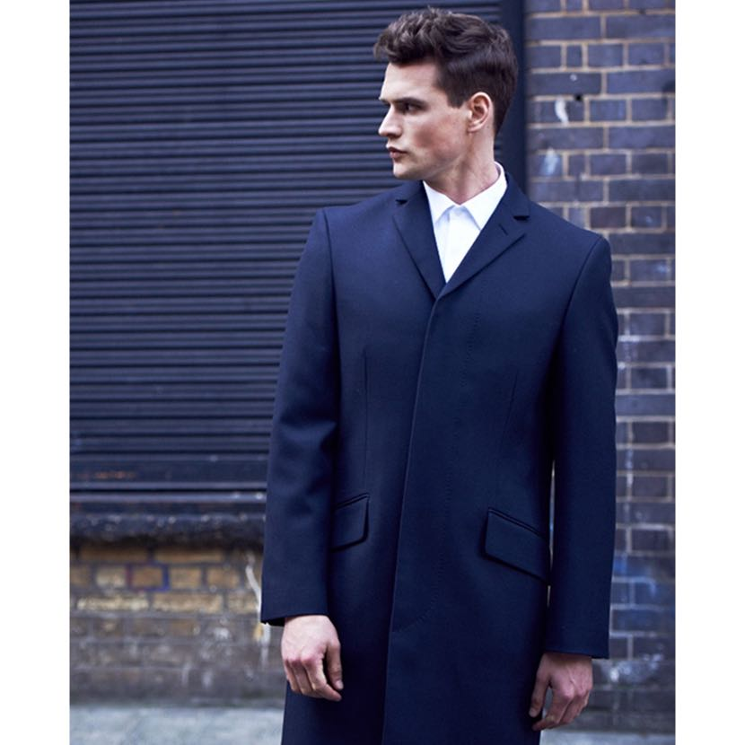 Navy Blue Winter Coat Jacket Cashmere And Wool Men S Fashion Clothes Outerwear On Carousell