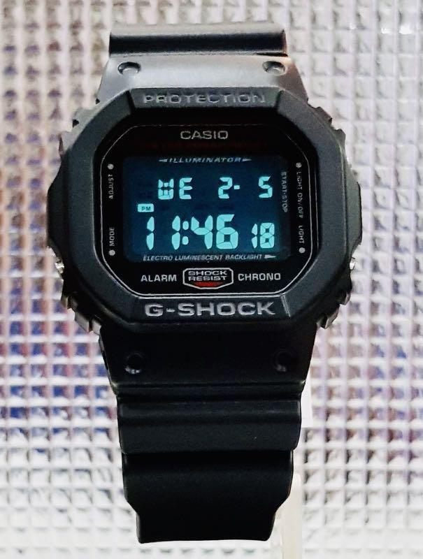 NEW🌟DEADPOOL theme: GSHOCK DIVER UNISEX SPORTS WATCH : 100% ORIGINAL AUTHENTIC CASIO BABY-G-SHOCK : DW-5600HR-1 / DW5600HR-1 / DW-5600-HR-1 (BLACK+RED)