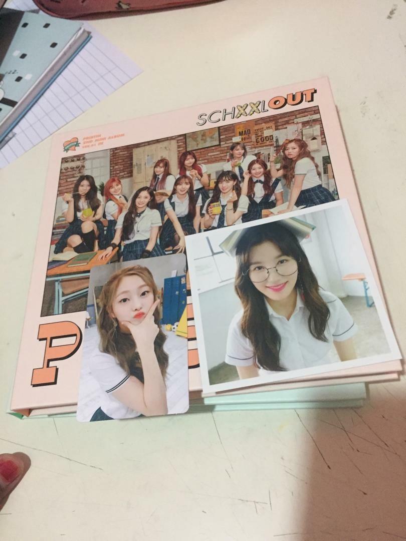 Pristin Schxxl Out ALBUM <In ver> *Eunwoo pc and Xiyeon Polaroid*