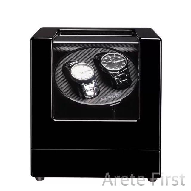 *PROMO* BNIB Automatic Classic Watch Winder Wood Box (Piano black) for two (2) watches winding