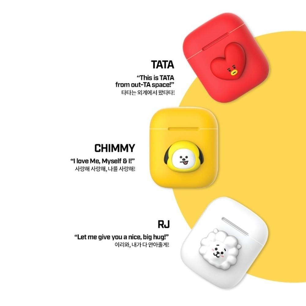 (PROMO PRICE) BTS BT21 New Official Merchandise - Two-Tone Airpods Case (Pose Type) Ring Type