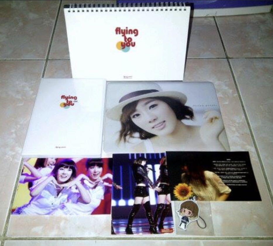 Snsd girls generation taeyeon calendar dvd fansite flying to you Korea kpop