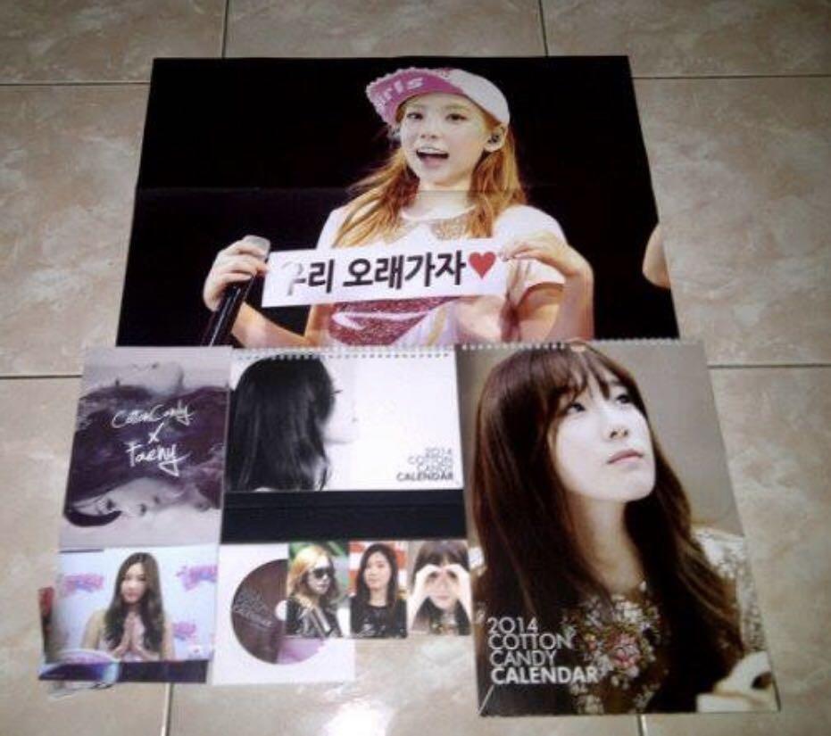 Snsd girls generation taeyeon cotton candy 2013 calendar fansite kpop korea