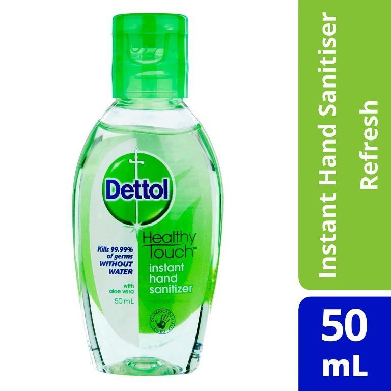 STAY SAFE & CLEAN!! Dettol Instant Hand Sanitizer Sanitiser Refresh 50ml
