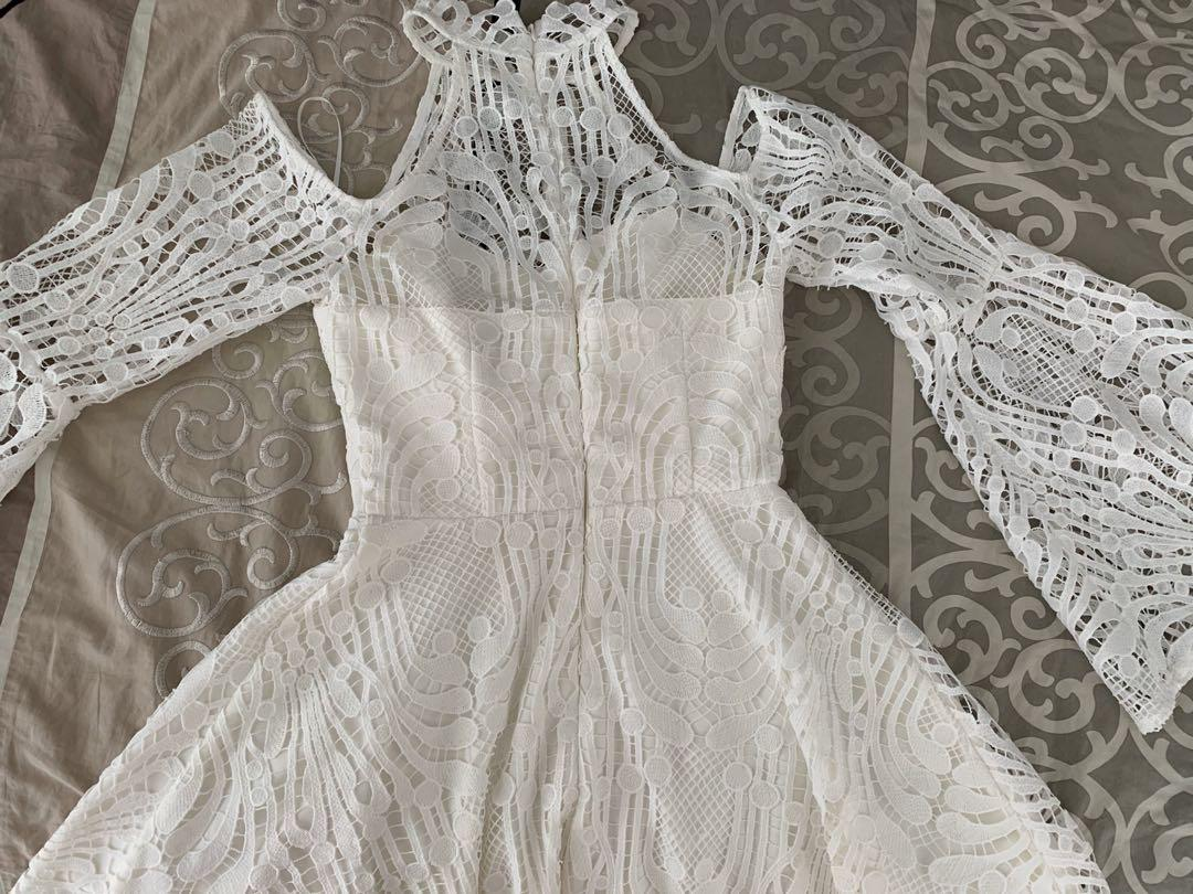Two Sisters The Label Tanya White Lace Dress New With Tags