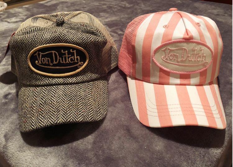 Unique Vintage Kustommade Von Dutch Originals Freesize/onesize fits all Zig Zag Grey Taupe Tan Sand Trucker Cap Hat