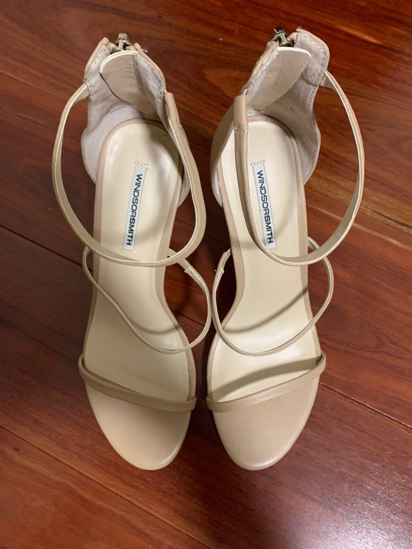 Windsor Smith Cynthia Stiletto - nude strappy heel