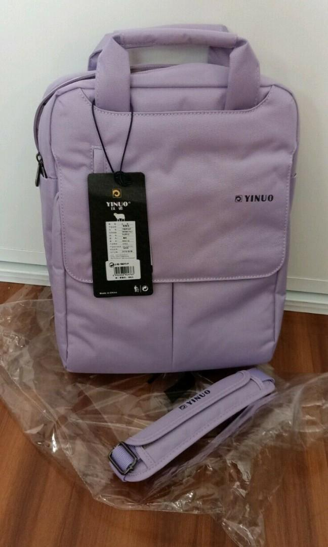 YINUO Lavender anti theft backpack bag brand new unused