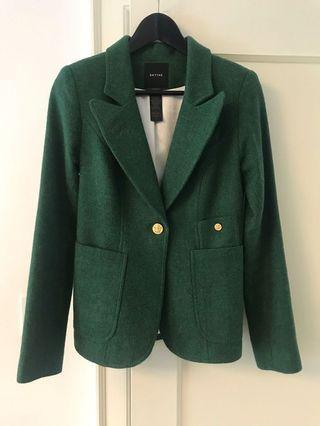 Smythe green wool blazer, Sz 4 fits like s/xs