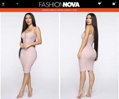 Fashion Nova pink dress