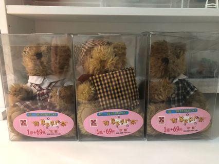 各式老物玩具收藏 玩具 公仔 超商收藏 多啦A夢 QOO 健達出奇蛋 熊熊