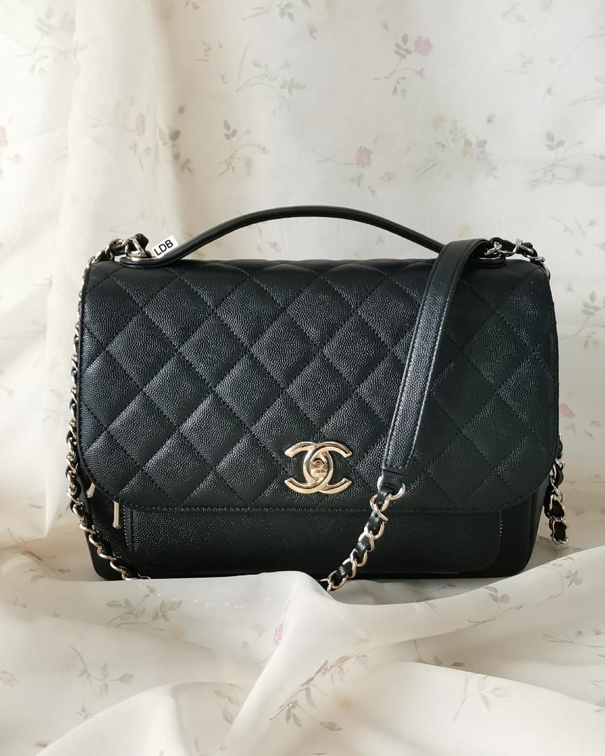 Authentic Chanel Business Affinity Large Black Caviar with Gold Hardware