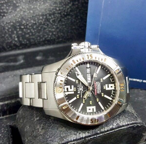"""Ball """"Alligator"""" Hydrocarbon Engineer L.E  1000M Diver.. Engineer Hydrocarbon Alligator (REF: DM1026A)(05).. Serviced By Ball Watch Singapore On 30/04/19"""