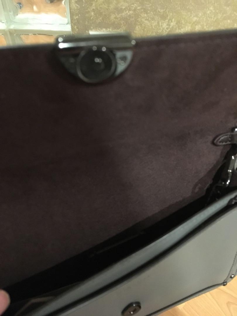 BNIB $400 COACH Purse Mini Gray Leather Crossbody Bag