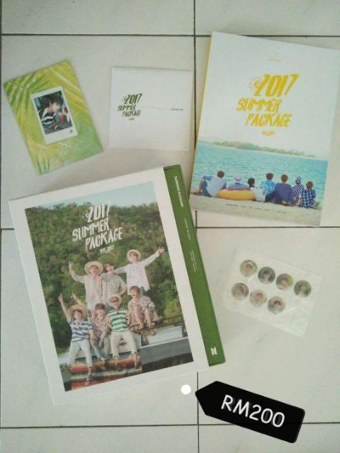 BTS SUMMER PACKAGE FULL SET WITH FAN NEED TO SELL URGENT