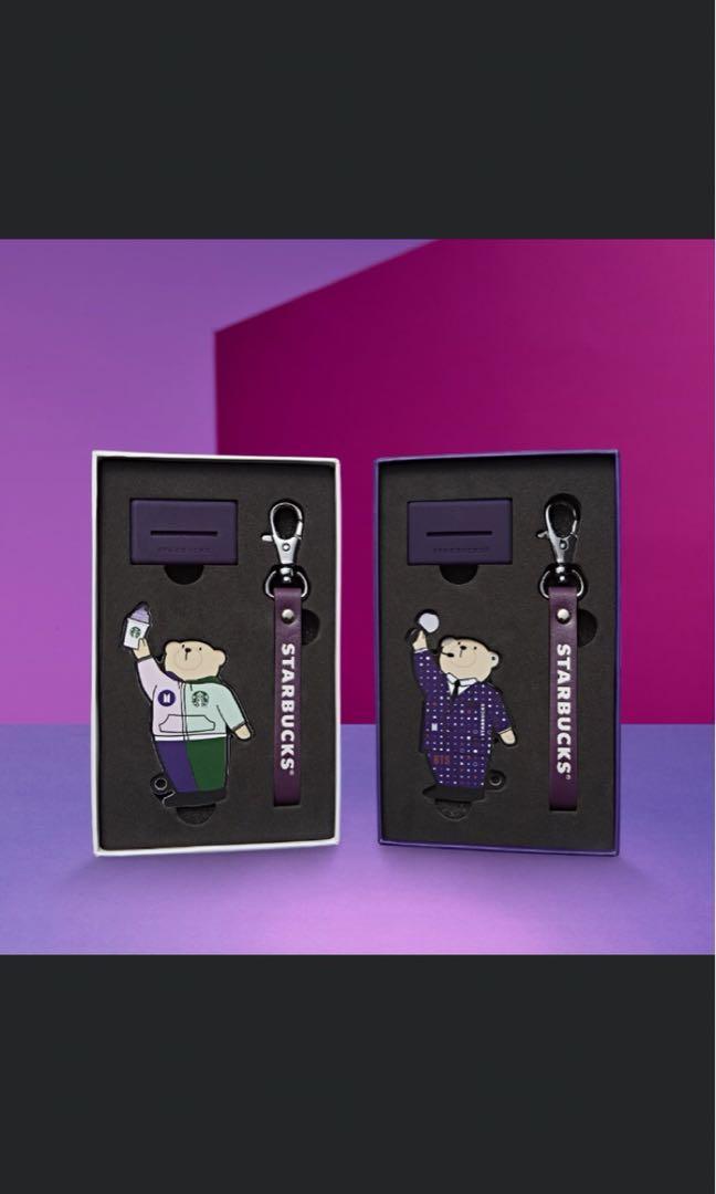 BTS X Limited Edition Starbucks Korea Card holder&Krychain