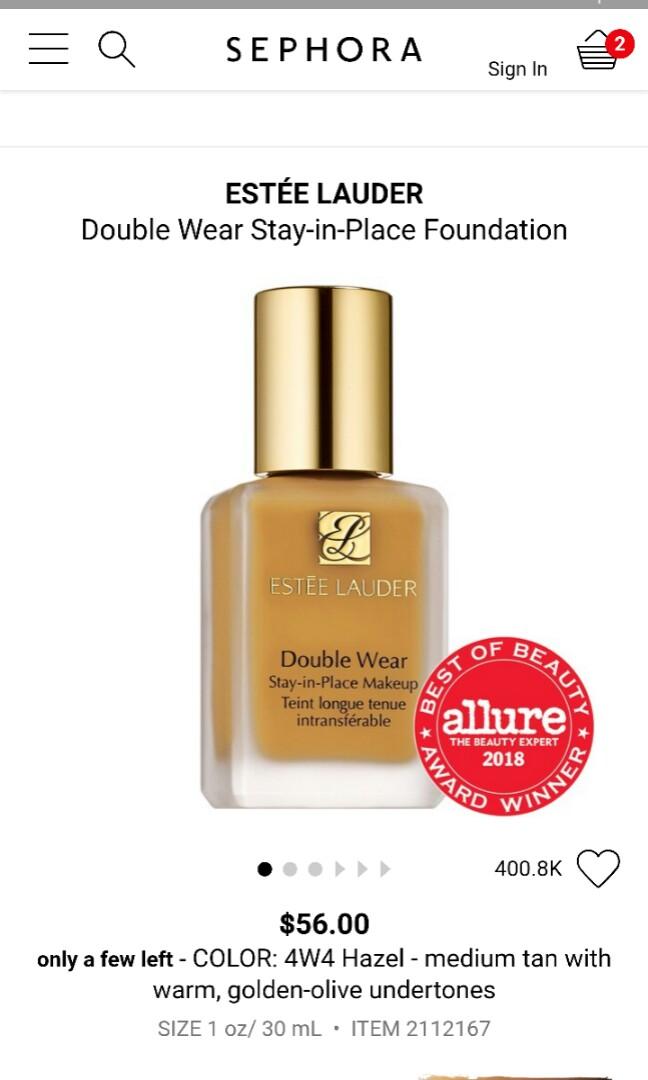 Estee Lauder double wear foundation (4N2 Spiced Sand)