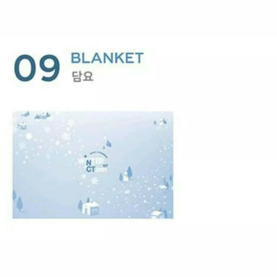 NCT 127 FANMEETING WINTER BLANKET + RANDOM PHOTOCARD