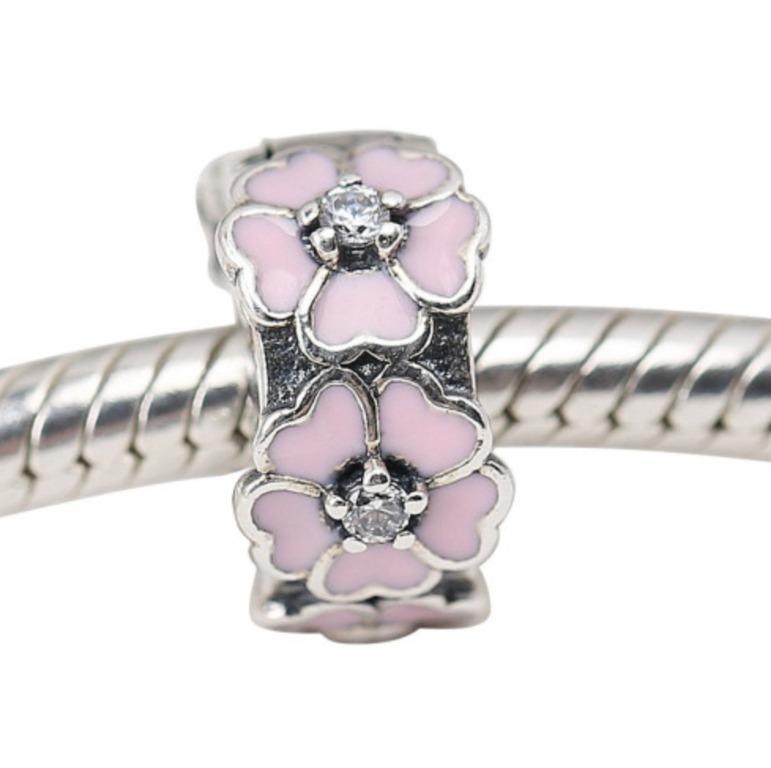 Pandora Primrose Flower Pink Enamel Clip Stopper Charm