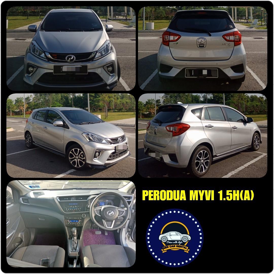 Perodua Myvi 1.5H (A) Kereta Sewa Bajet Selangor KL