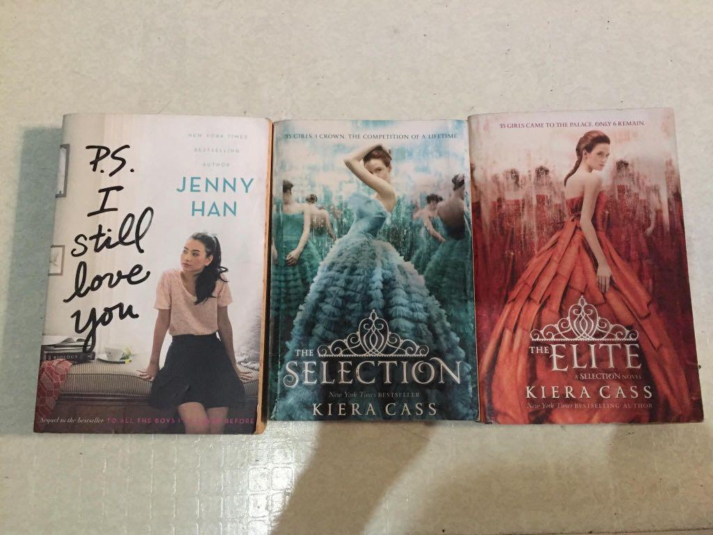 P.S I Still Love You by: Jenny Han and The Selection and The Elite by Kiera Cass