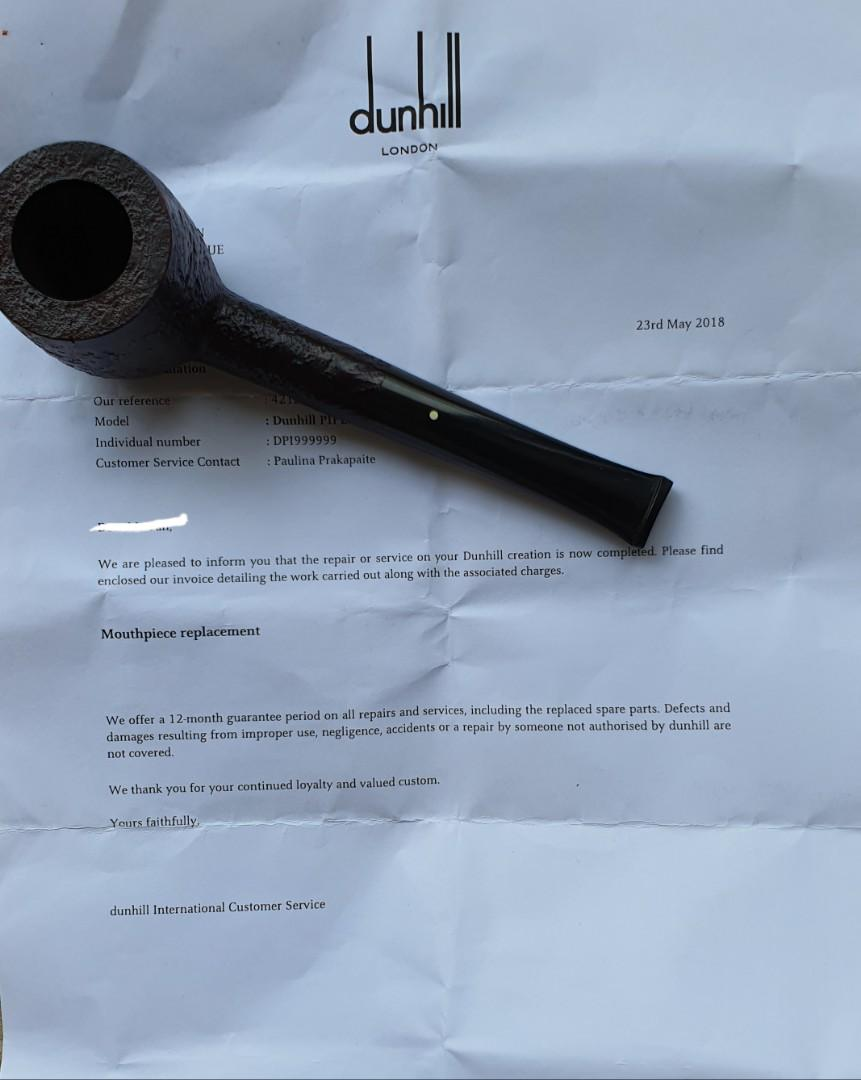 Rare Dunhill ODA (Grp 6) Estate Pipe - FOC - Vacuum sealed Dunhill Elizabethan Mixture (>5years)
