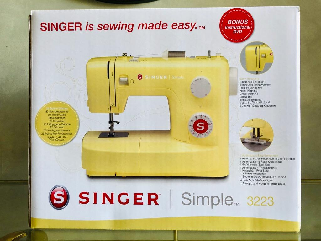 Singer Simple 3223 Yellow Sewing Machine - Brand New!