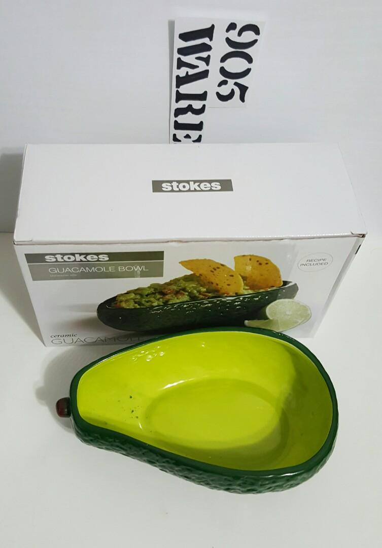 Stokes Avocado Bowl and Harlequin Salt and Pepper Shakers