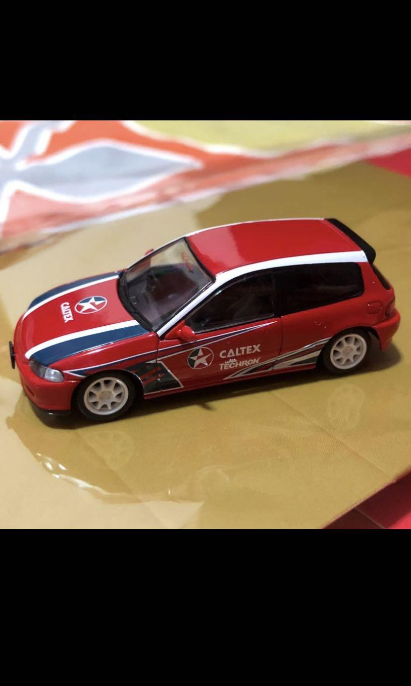 Tomica Tomytec Honda Civic eg6 Caltex limited edition