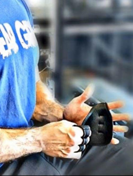 Weightlifting Bear Grip open aired training gloves