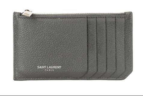 Saint Laurent grey fragment wallet