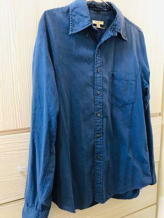 Burberry 長袖藍襯衫